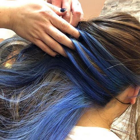 綺麗なブルーに仕上がりました